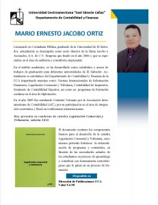 Biografia Lic. Mario Ernesto Jacobo Ortiz