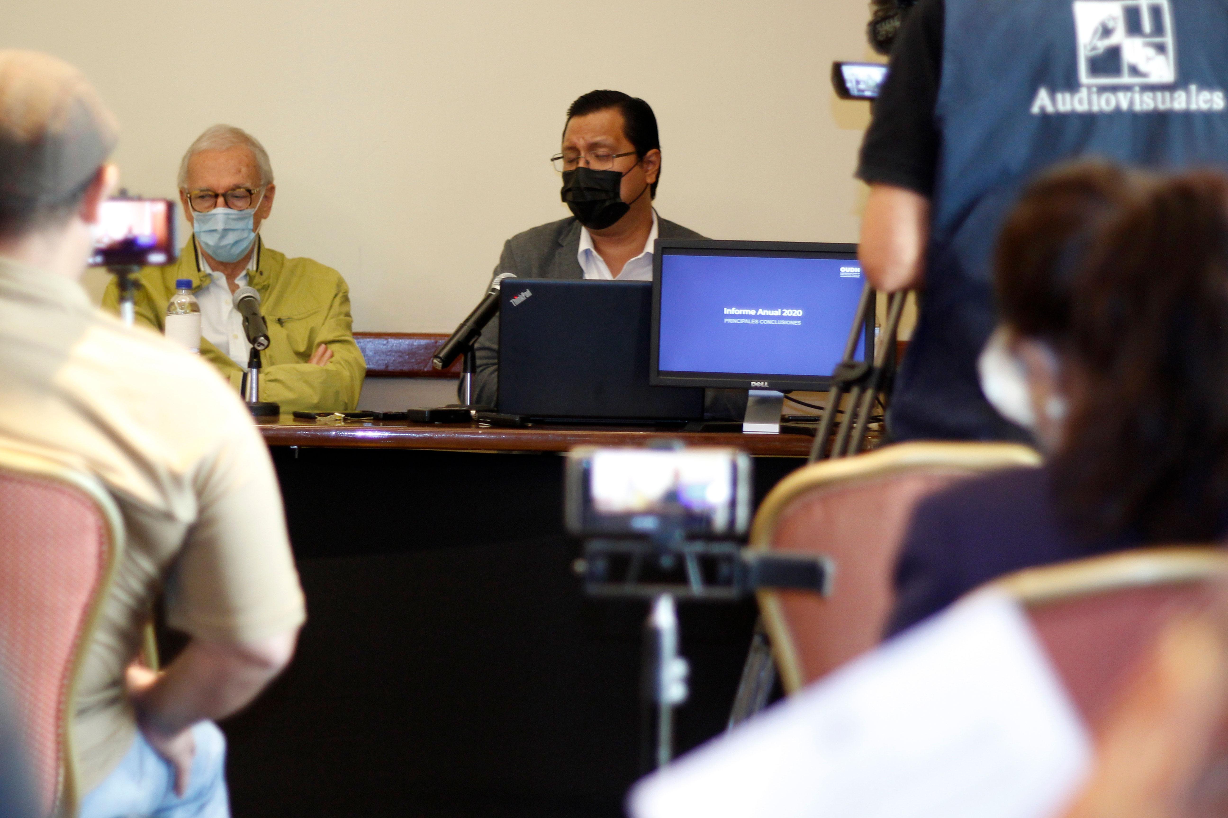 Conferencia de prensa sobre la presentación del Informe Anual 2020 del OUDH